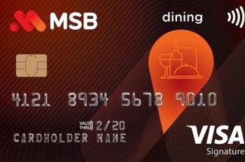 msb uu dai cho chu the visa signature dining