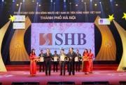 """SHB vào top 10 """"Hàng Việt Nam được người tiêu dùng yêu thích"""""""