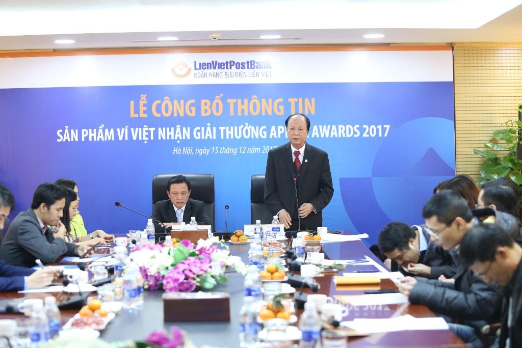 Lễ công bố thông tin sản phẩm Ví Việt nhận giải thưởng APICA 2017