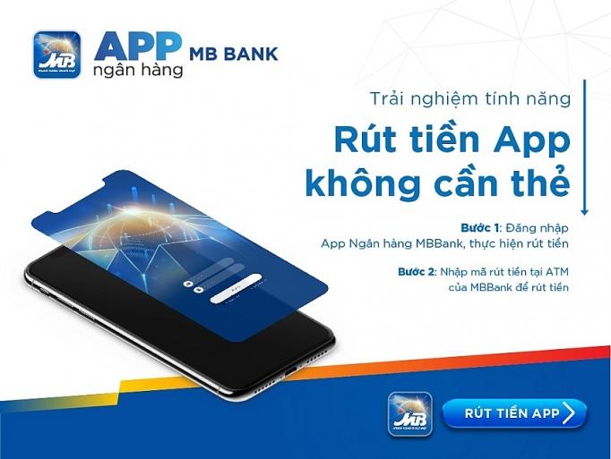 rut tien khong can the voi app ngan hang mbbank