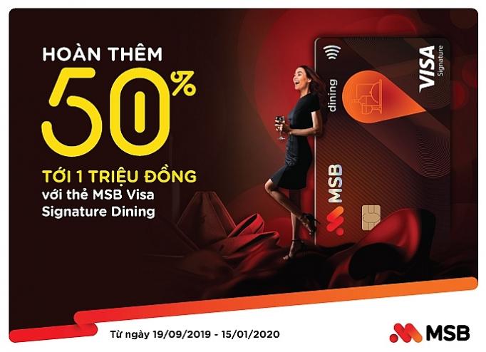 uu da i hoa n tie n 50 cho chu the msb visa signature dining