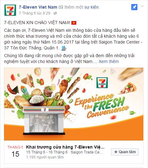 7-Eleven khai trương cửa hàng đầu tiên tại Việt Nam vào 15/6