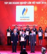PJICO thuộc Top 500 doanh nghiệp lớn Việt Nam
