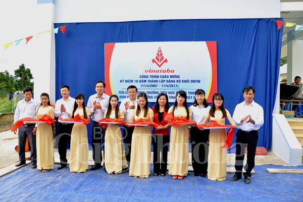 Khánh thành công trình Trường tiểu học xã Phước Thành tỉnh Ninh Thuận