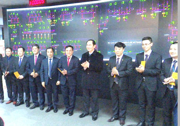 Chủ tịch nước Trần Đại Quang chúc Tết cán bộ Tập đoàn Điện lực Việt Nam