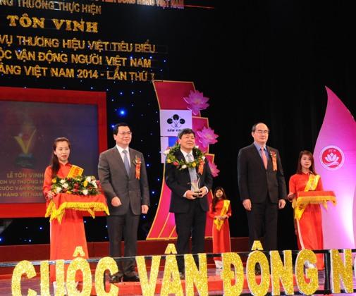 Lễ tôn vinh Giải thưởng sản phẩm, dịch vụ thương hiệu Việt tiêu biểu 2014 lần thứ nhất
